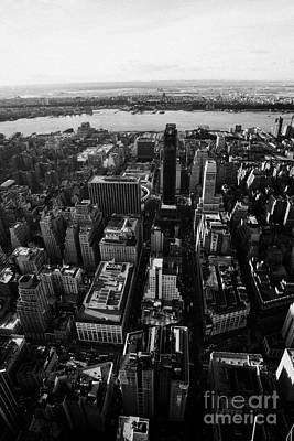 View Of Manhattan West Towards Hudson River And One Penn Plaza New York City Poster