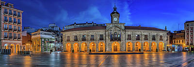 View Of Plaza De Espana Of Aviles Poster by Panoramic Images