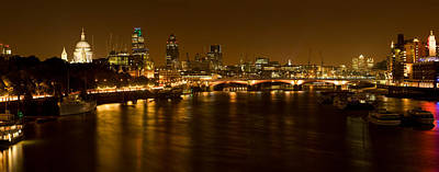 View Of Thames River From Waterloo Poster by Panoramic Images
