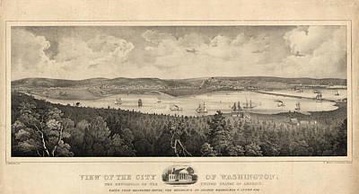View Of The City Of Washington, The Metropolis Poster