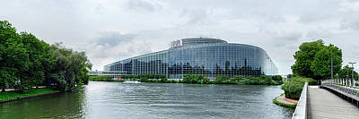View Of The European Parliament Poster by Panoramic Images