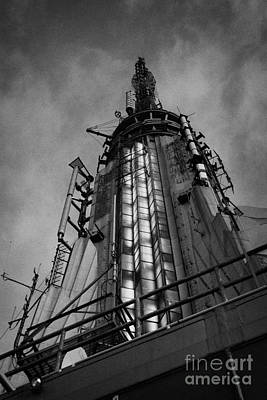 View Of The Top Of The Empire State Building Radio Mast New York City Poster by Joe Fox