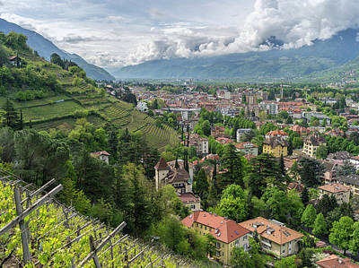 View Over The City Of Meran (merano Poster by Martin Zwick