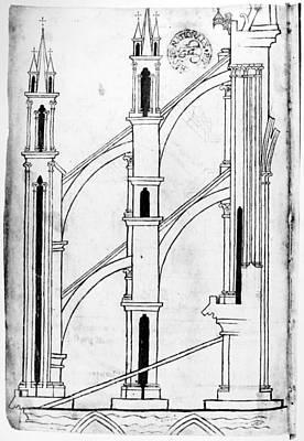 Villard De Honnecourt (c1225-1250) Poster by Granger