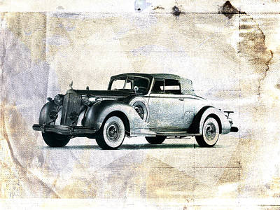 Vintage Car Poster by David Ridley