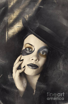 Vintage Fashion Girl In Creative Makeup And Tophat Poster by Jorgo Photography - Wall Art Gallery
