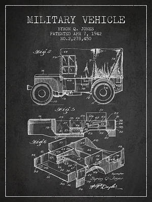 Vintage Military Vehicle Patent From 1942 Poster