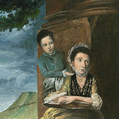 Poster featuring the painting Vintage Mother And Son by Mary Ellen Anderson
