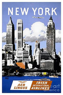 Vintage New York Travel Poster Poster by Jon Neidert
