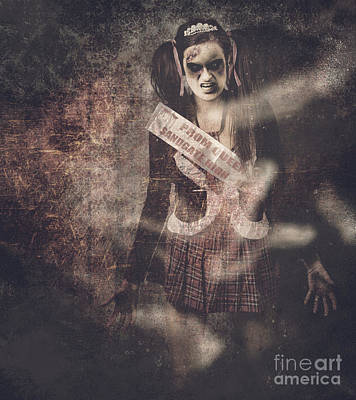 Vintage Photograph Of A Dead Zombie Prom Queen Poster by Jorgo Photography - Wall Art Gallery