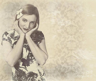 Vintage Photograph Of A Vintage Hollywood Actress Poster by Jorgo Photography - Wall Art Gallery
