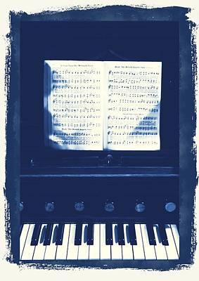 Vintage Piano Poster by Dan Sproul