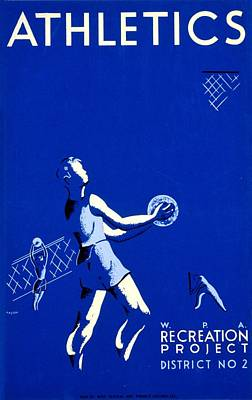 Vintage Poster - Wpa - Athletics 2 Poster