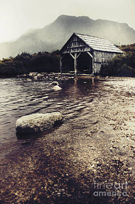 Vintage Style Landscape Of A Rustic Boat Shed Poster by Jorgo Photography - Wall Art Gallery