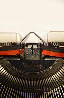 Vintage Typewriter Poster by Jill Battaglia