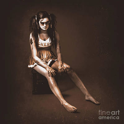 Vintage Zombie Cheerleader Cut From The Team Poster by Jorgo Photography - Wall Art Gallery