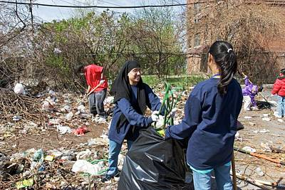 Volunteers Clearing Rubbish Poster