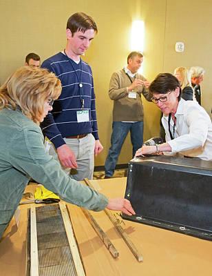 Volunteers Making Bat Houses Poster by Jim West