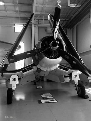 Poster featuring the photograph Vought Fg-1d Corsair by Rebecca Davis