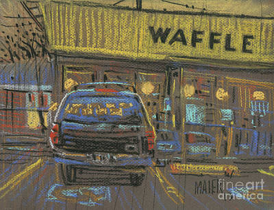 Poster featuring the painting Waffle House by Donald Maier