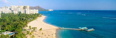 Waikiki Beach And Diamond Head Poster by Panoramic Images