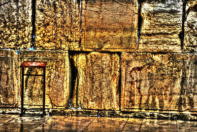 Poster featuring the photograph Wailing Wall by Doc Braham