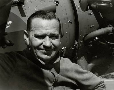Wallace Beery In Front A An Airplane Poster by Imogen Cunningham