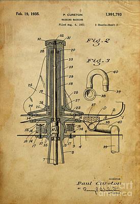 Washing Machine - Patented On 1931 Poster