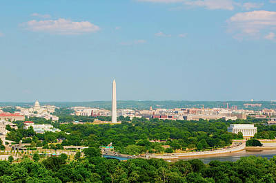 Washington D.c. Aerial View Poster