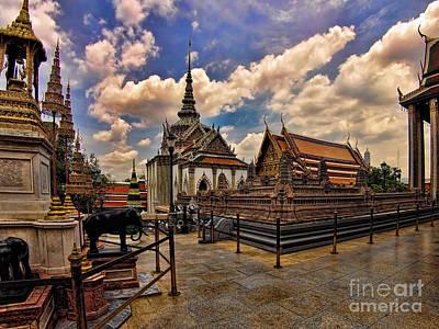 Wat Phra Kaew Poster by Joerg Lingnau