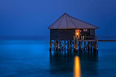 Water Villa In The Maldives Poster