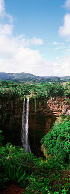 Waterfall, Chamarel Waterfall Poster by Panoramic Images
