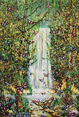Waterfall Of Prosperity II Poster