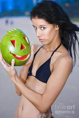 Watermelon Humor Poster by Jorgo Photography - Wall Art Gallery
