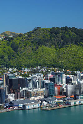 Wellington Cbd, Waterfront, And Te Poster by David Wall