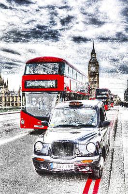 Westminster Bridge London Art Poster