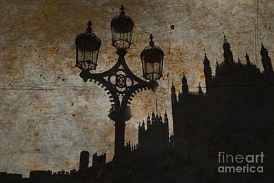 Poster featuring the digital art Westminster Silhouette by Matt Malloy