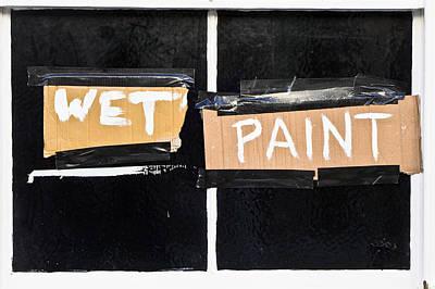 Wet Paint Poster