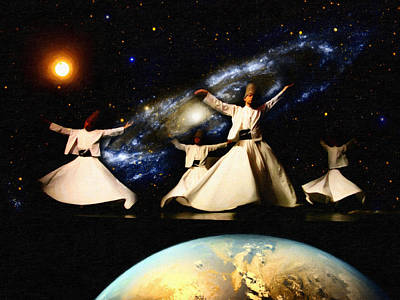 Whirling Universe Poster by Celestial Images