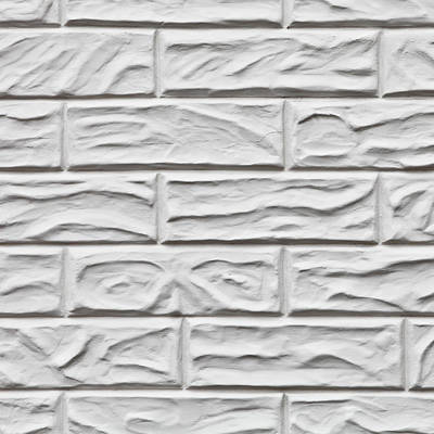 White Brick Wall Poster by Tom Gowanlock
