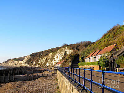 White Cliffs Of Eastbourne Beachy Head Poster by Art Photography