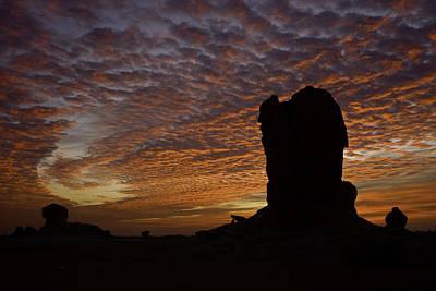 White Desert Sunrise Poster