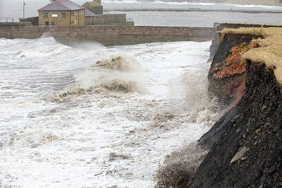 Whitehaven Harbour Storm Poster by Ashley Cooper