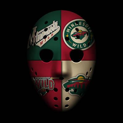 Wild Goalie Mask Poster