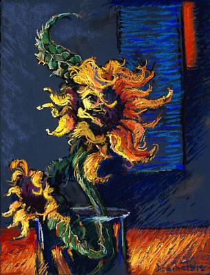 Wild Sunflowers Poster by Ellen Dreibelbis