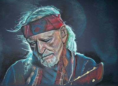 Poster featuring the pastel Willie by Peter Suhocke