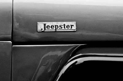 Willys Jeepster Side Emblem Poster by Jill Reger