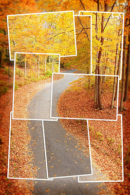 Winding Alley In Fall Poster