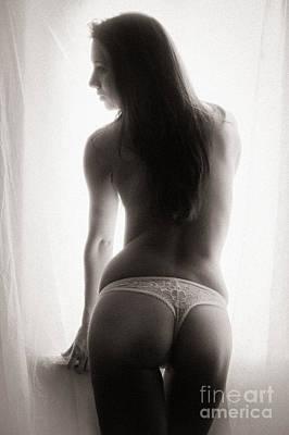 Window Nude Poster by Jochen Schoenfeld
