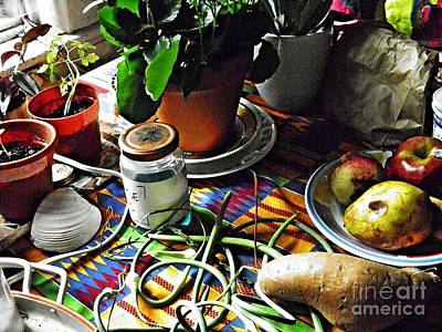 Window Table In Harlem Poster by Sarah Loft